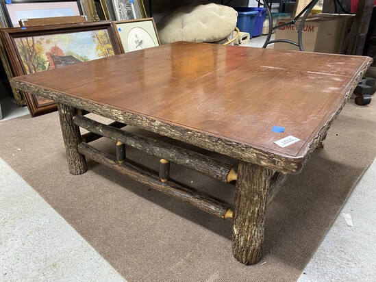 Larger Sized Rustic Hickory Coffee Table