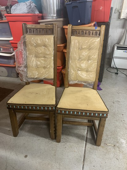 Two Vintage Mid Century Modern Chairs