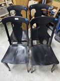 Group of 4 antique wooden chairs