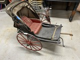 Unusual Antique Goat or Pony Drawer baby Carriage or Wagon
