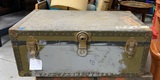Antique Military Footlocker Trunk