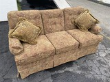 Comfortable Paisley Upholstered Couch