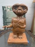E.T. Wooden Statue