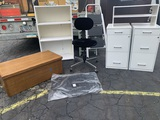 Office Chair, Filing Cabinets, Shelf, Step Stool & More