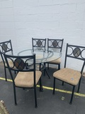 Glass Top 5 pc Dining Set