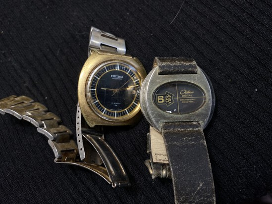 Two Vintage Watches including Seiko, Chateau Digital