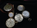 Group lot of old pocket watches