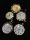 Group lot of antique pocket watches