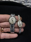 Two VIntage Lady's Omega Watches Inc. 14k