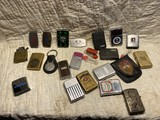 Group lot of assorted Zippo lighters etc