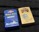 2 Vintage WWII Midway Lighters