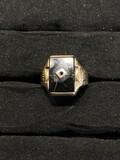 Vintage 10k gold men's ring