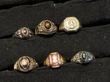 Group Lot of Gold Class rings
