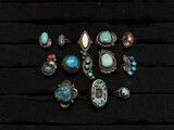 Group of old pawn silver Native American rings