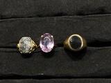 3 old 14k gold rings - 13 grams