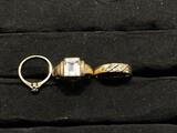 3 10k gold rings - 8.68 grams