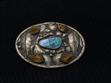Old Native American belt buckle w/Turquoise