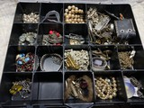 Sorter of assorted costume jewelry including sterling silver