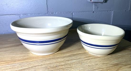 Set of 2 Roseville Friendship Bowls