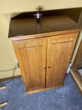 Vintage Oak Bar Cabinet or DVD Holder