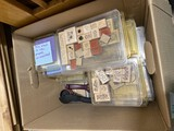 Box lot of assorted craft stamps - Stampin' Up