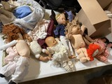 Large lot of cabbage patch and other dolls