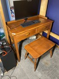 Vintage Maple Desk and Stool