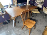 Vintage Drop Leaf Table and Chair