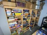 Four wooden bookshelves