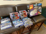 Group lot of assorted Micro Machines, Babylon 5, Star Wars toys in boxes