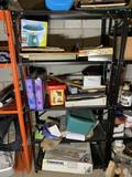 Shelf Lot of assorted items - Legos, games, kids activities