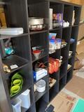 Contents of cubbies - kitchen items