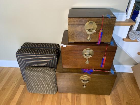Three Chinese Locking Boxes