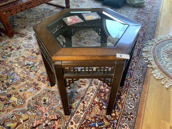 Octagonal Asian Style Lamp Table