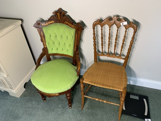 Two Antique Victorian Chairs