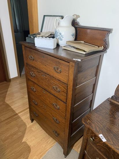 Antique Oak Dresser with backsplash