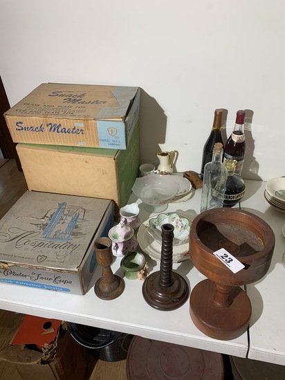 Group lot of vintage glass and more