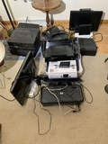 Group of older household electronics
