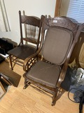 Antique Rocking Chair and dining chair
