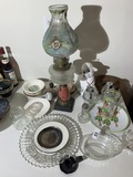 Antique lamp and more lot