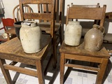 Group lot of 4 pieces of antique stoneware