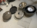 Cast iron dutch oven, Wagner pan and more