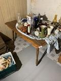 Vintage wooden kitchen table