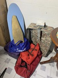 Luggage and ironing boards lot