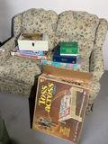 Microscope Science Kit, vintage games lot