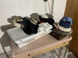 Lot of Antique hats, linens and more