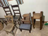 Group lot of antique furniture