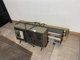 Three vintage electric heaters