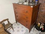 Antique Circleville Ohio Made Federal Era Dresser c. 1850