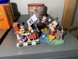 3 Vintage Disney Mickey Mouse figurines